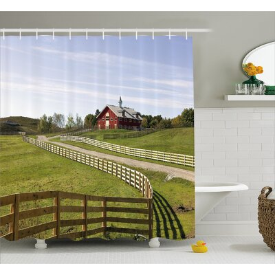 "Burngrove House Rural Country House Shower Curtain Size: 69"" W x 70"" L"