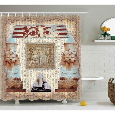 "Anjali Ancient Heritage Mummy Shower Curtain Size: 69"" W x 75"" L"