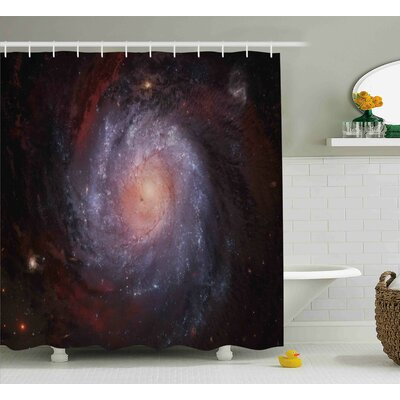 """Stardust View in Space Shower Curtain Size: 69"""" W x 70"""" L"""