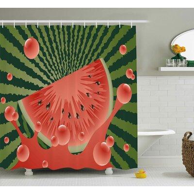 """Summer Vegetarian Garden Health Shower Curtain Size: 69"""" W x 70"""" L"""