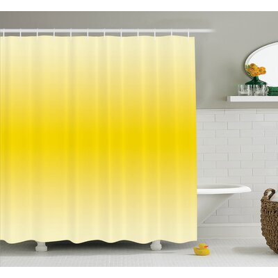 """Fred Sunny Summer Themed Art Shower Curtain Size: 69"""" W x 84"""" L"""