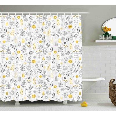 "Dylon Wild Forest Leaf Flowers Shower Curtain Size: 69"" W x 70"" L"