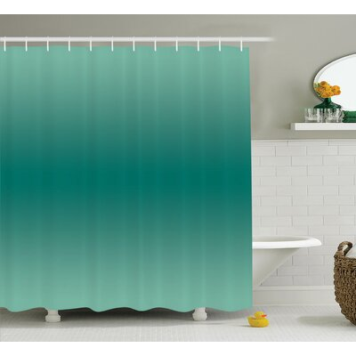 "Fabiola Ocean Waves Theme Decor Shower Curtain Size: 69"" W x 70"" L"