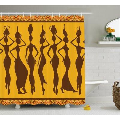 "Avia Sexy Exotic Females Boho Shower Curtain Size: 69"" W x 75"" L"
