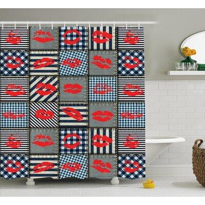 """Frank Trendy Sexy Stripes Form Shower Curtain Size: 69"""" W x 70"""" L"""