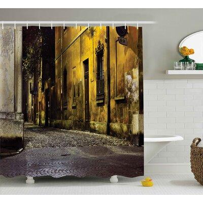 """Street Dark City Old Avenues Shower Curtain Size: 69"""" W x 84"""" L"""