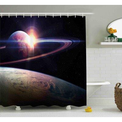 "Massive Planets Cosmo Shower Curtain Size: 69"" W x 70"" L"