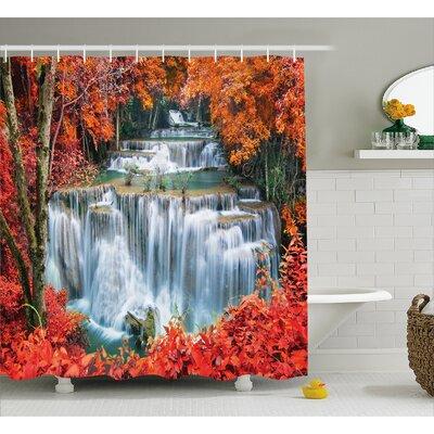 "Landscape Botanic Fall Forest Shower Curtain Size: 69"" W x 84"" L"