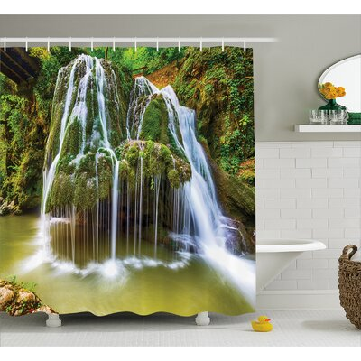 "Scenery Botanic Plants in Lake Shower Curtain Size: 69"" W x 70"" L"