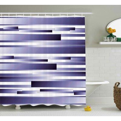 """Enrique Purple Shades Pattern Shower Curtain Size: 69"""" W x 70"""" L"""