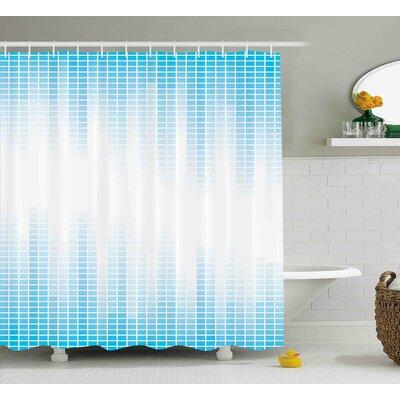 """Frazier Geometric Squared Design Shower Curtain Size: 69"""" W x 84"""" L"""