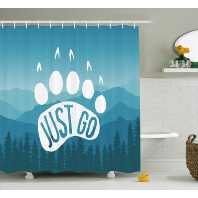 """Dasia Motivational Quote Post Shower Curtain Size: 69"""" W x 75"""" L"""