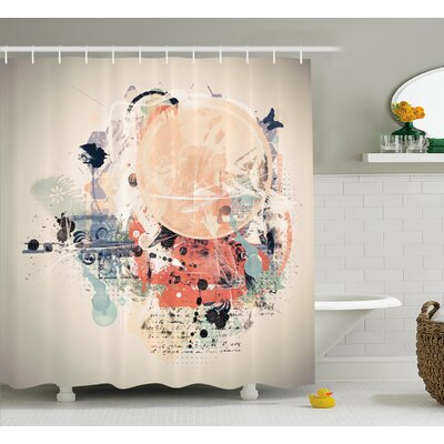 """Grant Grunge Mix Collage Shower Curtain Size: 69"""" W x 70"""" L"""