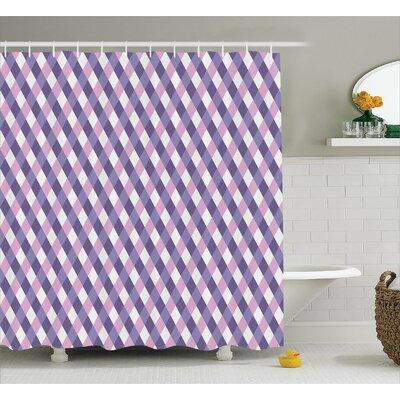"Baucau Mosaic Crossed Pattern Shower Curtain Size: 69"" W x 75"" L"