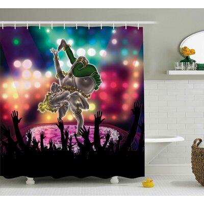 "Mystic Indian Elephant God Shower Curtain Size: 69"" W x 75"" L"