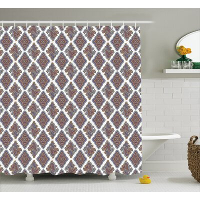 """Bean Indian Floral Pattern Shower Curtain Size: 69"""" W x 70"""" L"""