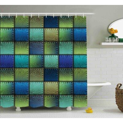 "Franco Modern Geometric Bohem Shower Curtain Size: 69"" W x 70"" L"