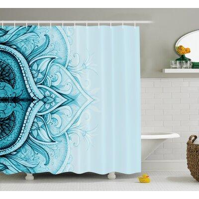 "Florie Ethnic Ornamental Lace Shower Curtain Size: 69"" W x 70"" L"