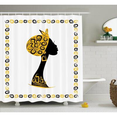"""Avia Ethnic Tribal Portrait Shower Curtain Size: 69"""" W x 70"""" L"""