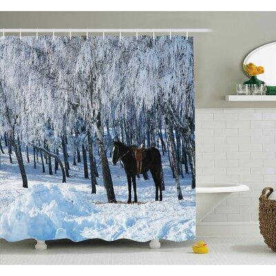 "Hamilton Winter Forest Theme Shower Curtain Size: 69"" W x 70"" L"