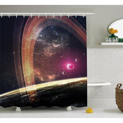 "Nabula Dust with Stars Shower Curtain Size: 69"" W x 70"" L"