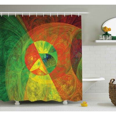 """Anamaria Abstract Artsy Surreal Shower Curtain Size: 69"""" W x 70"""" L"""