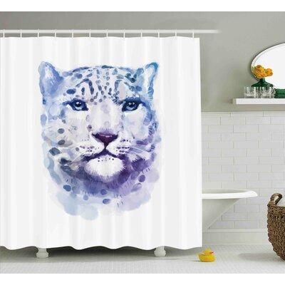 "Animal Artsy Leopard Wild Cat Shower Curtain Size: 69"" W x 84"" L"