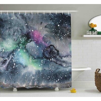 "Floriana Celestial Cosmic Shower Curtain Size: 69"" W x 70"" L"