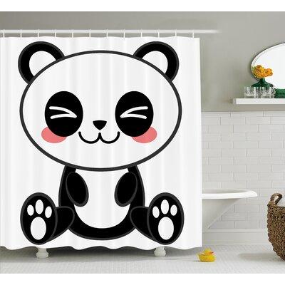 "Anime Decor Japanese Manga Art Shower Curtain Size: 69"" W x 70"" L"
