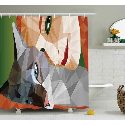"""Fonda Geometric Mosaic Decor Shower Curtain Size: 69"""" W x 70"""" L"""