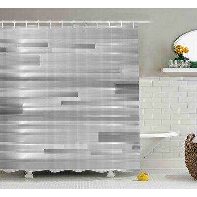 """Enrique Striped Web Forms Shower Curtain Size: 69"""" W x 75"""" L"""
