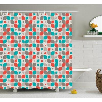 "Emmanuell Retro Mosaic Motif Shower Curtain Size: 69"" W x 70"" L"