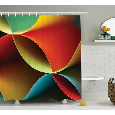 """Aerin Graphic Colored Decor Shower Curtain Size: 69"""" W x 70"""" L"""