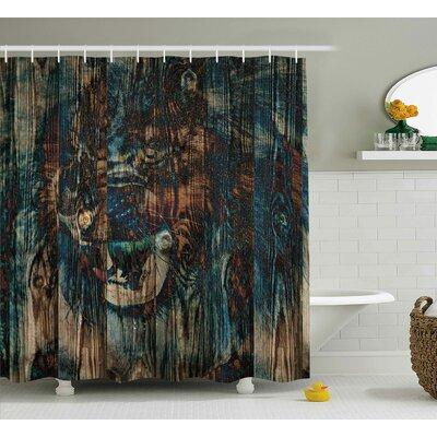 "Andrews Wild African Animals Shower Curtain Size: 69"" W x 70"" L"