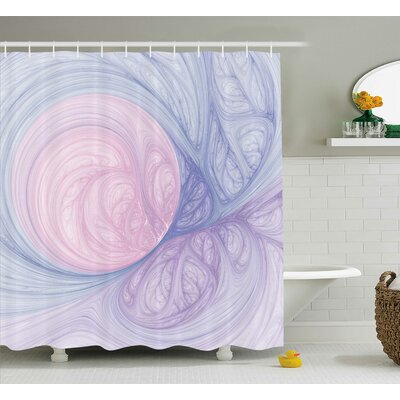 "Purple Abstract Fractal Shapes Shower Curtain Size: 69"" W x 70"" L"