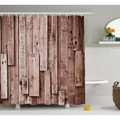 "Beauville Vintage Barn Floor Art Shower Curtain Size: 69"" W x 75"" L"