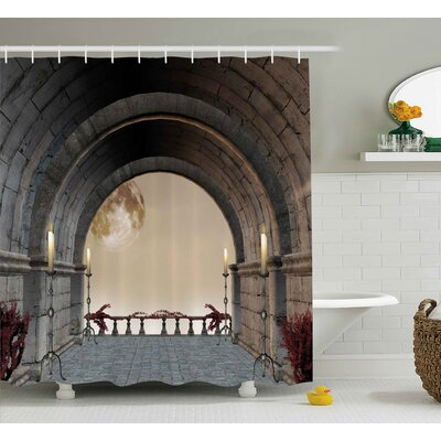 "Gothic Antique Vintage Decor Shower Curtain Size: 69"" W x 84"" L"