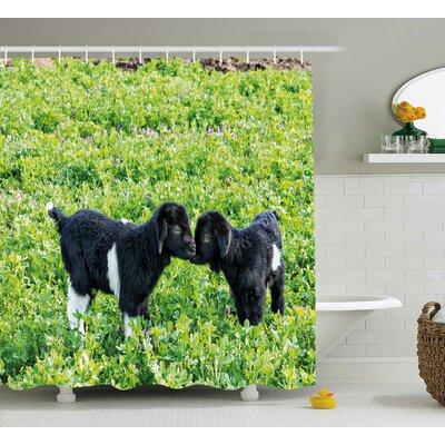 """Animal Nature Hills Garden Shower Curtain Size: 69"""" W x 84"""" L"""