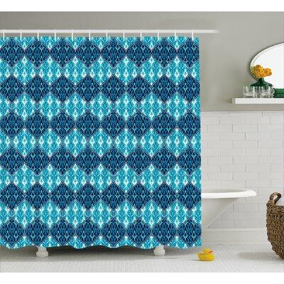 "Giovanni Oriental Patchwork Decor Shower Curtain Size: 69"" W x 70"" L"