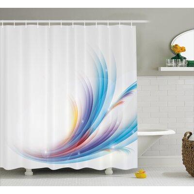 """Grady Rainbow like Wave Decor Shower Curtain Size: 69"""" W x 70"""" L"""