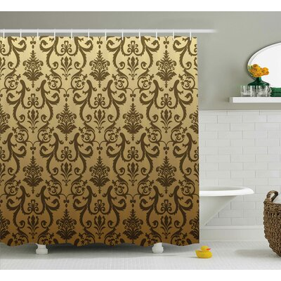 "Basilia Ancient Times Classic Shower Curtain Size: 69"" W x 70"" L"