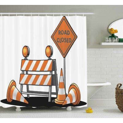 """Logo Decor Shower Curtain Size: 69"""" H x 75"""" W"""