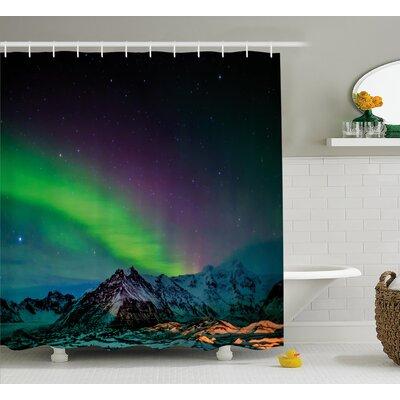 "Wild Night Shower Curtain Size: 69"" H x 70"" W"