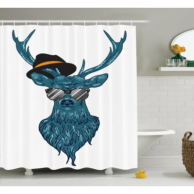 """Hipster Shower Curtain Size: 69"""" H x 84"""" W"""