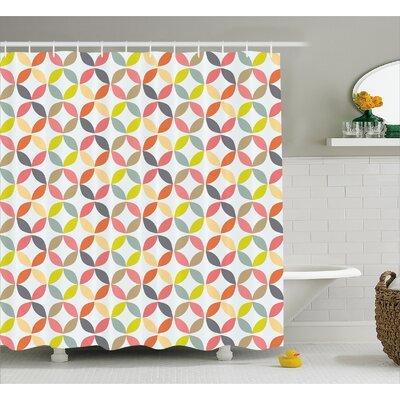 "Fairlee Fabric Decor Shower Curtain Size: 69"" H x 70"" W"