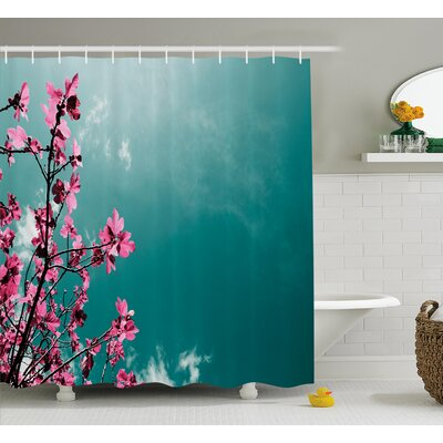 """Fig Tree Shower Curtain Size: 69"""" H x 75"""" W"""