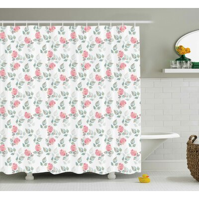 "Menthe Shower Curtain Size: 69"" H x 70"" W"