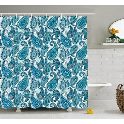 "Floral Decor Shower Curtain Size: 69"" H x 84"" W"