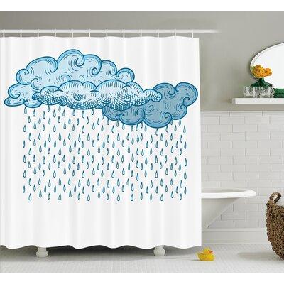 """Rain Decor Shower Curtain Size: 69"""" H x 84"""" W"""