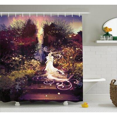 """Goddess Decor Shower Curtain Size: 69"""" H x 75"""" W"""